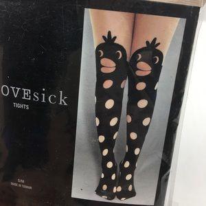 Love Sick Polka Dot Duck Tights cosplay costume